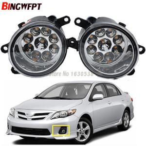 2PCS Super Bright LED Противотуманные фары Белый Желтый Лампы 81210-06052 Для Corolla 2009 2010 2011 2012 2013