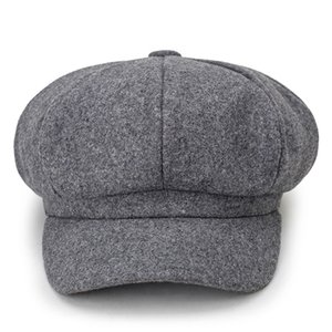 2019 new woolen solid color beret fashion outdoor cotton hat autumn and winter windproof hats men's and women's universal caps