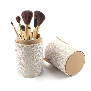 7PCS Makeup Brush Set Foundation Blush Brush Loose Powder Eyeshadow Lip Eyebrow Eyelash Kit