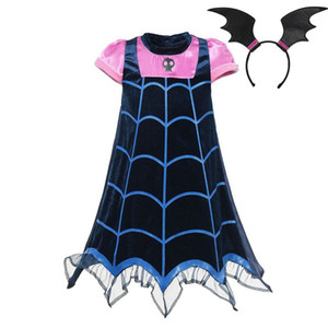 VOGUEON 소녀 Vampirina 코스프레 의상 어린이 여름 뱀파이어 파티 드레스 의류 여자까지 할로윈 크리스마스 생일 선물