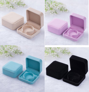 90*90*40mm velvet jewelry box sample bracelet bangle box gift box Jewelry Packaging Display more color for choice