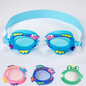 أطفال نظارات السباحة سيليكون الكرتون لمكافحة الضباب الأطفال نظارات السباحة مع نظارات حالة الطفل السباحة نظارات ملابس العين قابل للتعديل