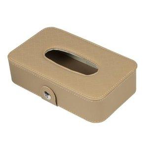 Tissue 1pc Car Box Papel suporte de couro Universal 21x12x6.3cm Interior