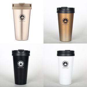 Tasses à café sous vide en acier inoxydable Tasse de voyage Tasse à agitation automatique Tasse à café Tasses à café Tasses Vaisselle Drinkware Cadeau Unique Thermos Bouteille D'eau