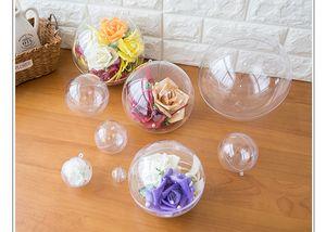 10pcs 7/8/9 / 10cm Transparent Ball Clear ornamento plástico presente Fillable Bola Presente da árvore de Natal Ornanment Detalhes