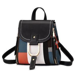 2020 neuf de haute qualité en cuir PU femmes Sac à dos Sac à bandoulière Sac d'école pour les adolescentes multi-usage Daypack Sac à main bandoulière sac à dos
