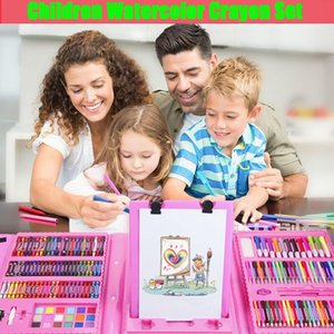 208 Штук цветов Цветные карандаши Цветные карандаши Kredki Акварель кисти Pastel Набор детей Канцелярские масляная пастель Drawing Kid Art Pen масло