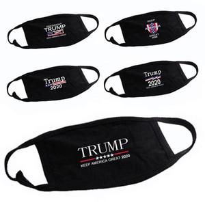 Trump 2020 Mask Keep Warm Cotton Windproof Masks Anti Dust Unisex Fashion Black Mask 5 styles Free Shipping