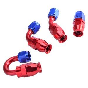 Kraftstoffversorgung Behandlung AN6 AN Aluminium Swivel PTFE-Schlauch Endarmatur Adapter Gerade 45 90 180degree für Ölbrennstoffleitung Wiederverwendbare