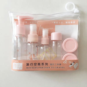 Cosmetic bottle 7pcs spray bottle set empty Cosmetics portable sample travel bottling Alcohol spray bottle Factory Dropshipping B2502