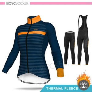 Pro Team 2020 Women Clothing Winter Cycling Kit Long Sleeve Jersey Thicken Thermal Fleece MTB Warm Clothes 19D Gel Pad Pants Set