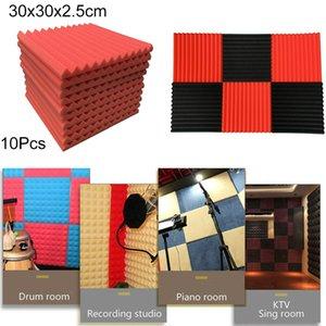 10шт Акустическая Foam Panel Sound Stop Поглощение Sponge Студия КТВ Звукоизолированный украшения дома аксессуары дропшиппинг