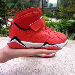 Mit Box Kinder 7 Basketball Schuhe Sneaker Kinder schwarze Sportschuhe Jungen im Sommer im Freien rote Turnschuhe 28-35 Chaussures de Korb Enfant