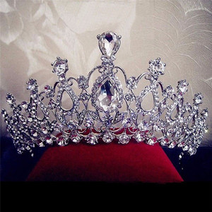 Korean Elegant Princess Bridal Wedding Rhinestone Crystal Tiara Hair Band Princess Prom Crown Headband Diadem Hair Jewelry New