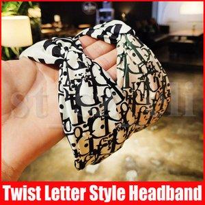 Twist тюрбан Цветочные оголовье Печать для женщин Stretch Hairbands Спорт ободки Йога Headwrap Bandana девочек Аксессуары для волос