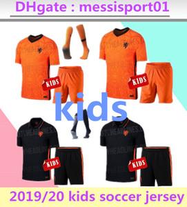 MÁS NUEVO 2019 2020 Holanda Niño traje de juegos de piezas de los muchachos embroma los jerseys camiseta de fútbol WIJNANEWEST DE JONG Wijnaldum niños Holanda