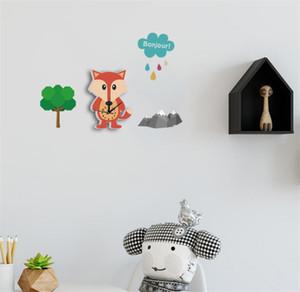 Reloj de pared de dibujos animados en 3D para el parachoques linda silencioso Moderno registra para mantener una buena Dormir bricolaje relojes de pared Decoración B2165