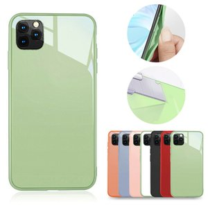 Luxury Tempered Glass Case Cover For iPhone 11 Pro Max 8 7 6 Plus Liquid Silicone Protector Shell