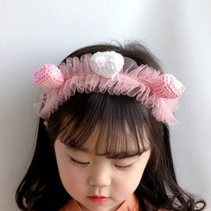 2020 New Korean Style Simple Cartoon Cute Colorful Heart Sequins Children Hairbands for Girl Cute Fashion Hair Accessories