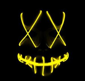 Gesichtsmaske EL-Draht-LED-Geist Masken Purge Wahljahr Maskerade-Maske Scary Cosplay Masken-Halloween-Kostüm PartySupplies10Designs LQPYW1232