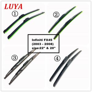 """LUYA Hay cuatro tipos de lámina de limpiador de parabrisas de coches de limpiaparabrisas Por Infiniti FX45 (2003 - 2008) tamaño: 22"""" 20"""""""