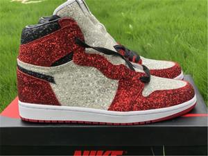 Más calientes de 2020 1 El zapato zapatos auténticos Cirujano El Polo Norte de Chicago baloncesto de los hombres TheShoeSurgeon diamante cristaliza con la caja original