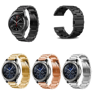 22mm Classic Three beads Metal Band For Samsung Gear S3 Watch Band Strap Stainless Steel Bracelet