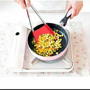 2-в-1 шпатель щипцы антипригарные термостойкие кухня барбекю силиконовые кулинария инструмент хлеб пицца еда щипцы жареные лопата