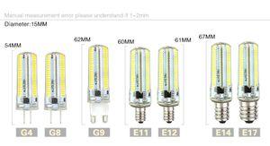 Led Light G9 G4 conduit ampoule E11 E12 E17 14 G8 peut être obscurci lampes 110V 220V Spot Ampoules SMD 3014 64 152 leds lumière