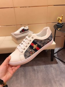Ace Bee 2020 new luxury fashion designer sneakers leather platform vintage high quality women mens shoes mouse cartoon print size 38-44 H47