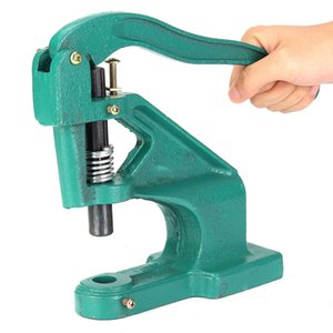 Manual Hand Pressure Snap Pressing Machine Clamp Snap Clip On Tool Metal Green Rivets Molds Snaps Button installation tool
