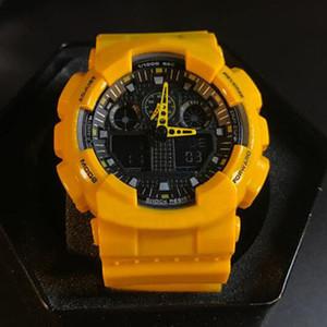 Mode Uhren Männer Frauen Sport-Digital-LED-Marken-Entwerfer-Autolight Wasserdicht GA100 Studenten Military Watch mit Box