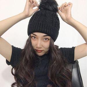 Женские Цельный парик Осень Зима Вязаная Плюшевые Cap Один длинными вьющимися Bonnet Natural Big Волнистые Curly синтетический парик волос + Hat