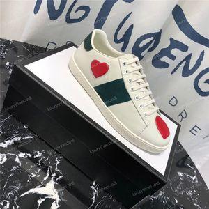 Boş Eğitmenler Sneakers Chaussures Drop Shipping Walking Erkekler Kadınlar Casual Ayakkabı Sneakers Deri Ace Arı Stripes Ayakkabı