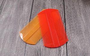 Capelli di plastica Due laterale Combs Rosso Giallo Pidocchi pettine dei capelli Donne Strumenti Caring 11 * 5,5 centimetri