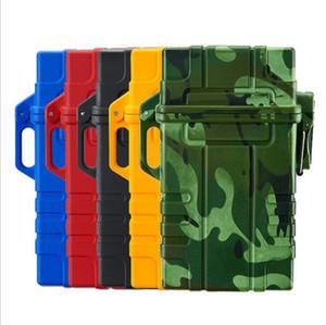 Livello militare impermeabile Cigarette USB caso con accenditore elettronico ricaricabile accendini caso scatola di immagazzinaggio 5 colori