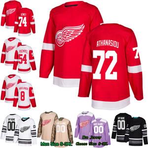 72 Andreas Athanasiou Detroit Red Wings 74 Madison Bowey Andreas Athanasiou 54 Matt Puempel Henrik Zetterber 8 Justin Abdelkader Jersey