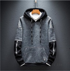 New Designer Hoodies For Men Spring Mens Hoodie lin 2oSweatshirt Fake two piece Tide Luxury Pullover print letter printed jackets sweater02