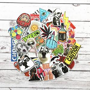 Sıcak Rastgele Serin JDM Kaykay Gitar Seyahat Çantası DIY sticker renkli Araba Sevimli çıkartması moda komik sticker 1000 parça