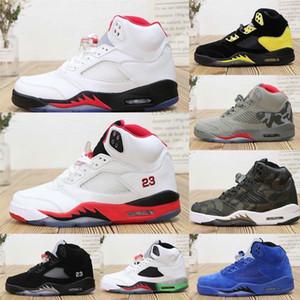 Nike Air Jordan 5 Sıcak kalite Erkek AJ5 basketbol ayakkabı retro jumpman J5 Bel Hava uçuş AJ 5 Ölümcül Pembe oreo kadın çocuk botları sneakers