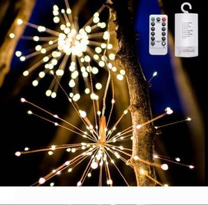 Firework led copper string light Bouquet Shape LED String Lights Battery Operated Decorative Lights with Remote Control