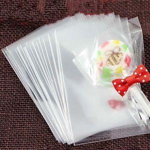 Bustine Trasparenti Opp di plastica per Candy Lollipop Cookie confezione sacchetto regalo Cellophane Bag festa di nozze 100pcs / bag XD22303