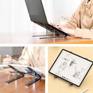MacBook Air Pro Notebook Katlanabilir Alüminyum Alaşım Laptop Standı için ucuz nakliye Laptop Tutucu