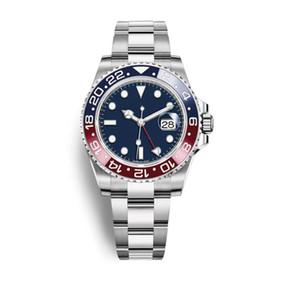 Wholelsale Preço Barato Mens Luxo Relógio GMT 42mm Aço Inoxidável Pepsi Batman Designer Relógios Movimento Automático Varredura Esporte relógio de Pulso