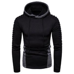 Tops Mens Painéis drapeado Designer Hoodies Magro pulôver Zipper camisola manga comprida Mens Moda