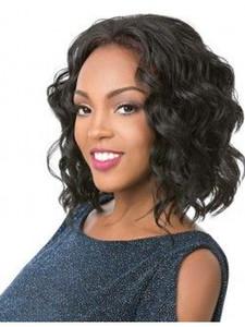 Высокое качество прически короткие боб волна парик бразильские волосы женщины афро-американского моделирования человеческие волосы короткие боб вьющиеся парик в наличии