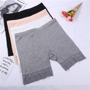 Calças Mulheres segurança Modal Seamless Sexy Lace Panties Calças quentes de Verão confortável Ultra-Thin Solid Color Boxer Femme Curto Feminino