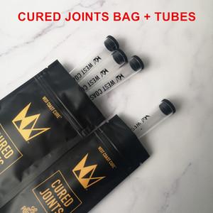 New West Coast cura 1PCS 3PCS CURADO JUNTAS DE SACO PLÁSTICO + tubos de embalar embalagens tubo moonrock 2020 Preroll pré-laminados