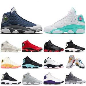 LUCKY GREEN Jordon 13 Новый Кремень Мужчины баскетбол обувь шапочке и мантии Чикаго Бред Phantom Altitude мужские женские тренеры Спортивные кроссовки
