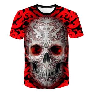 new skull 3D T Shirt Summer Mens Fashion Tops Male Print harajuku Men Women casual Anime T-Shirts